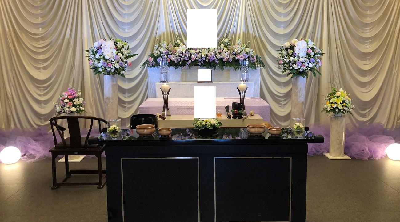 コロナ禍でのお葬式(1日葬)-葬儀お花お届け便-